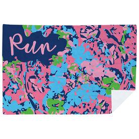 Running Premium Blanket - Run Floral