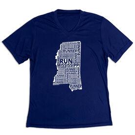 Women's Short Sleeve Tech Tee - Mississippi State Runner