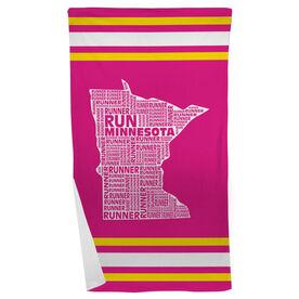 Running Beach Towel Minnesota State Runner