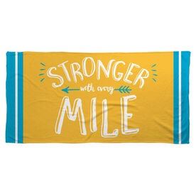 Running Beach Towel Stronger With Every Mile