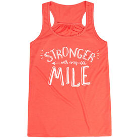 Flowy Racerback Tank Top - Stronger With Every Mile