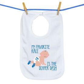 Baby Bib My Favorite Race Is The Diaper Dash