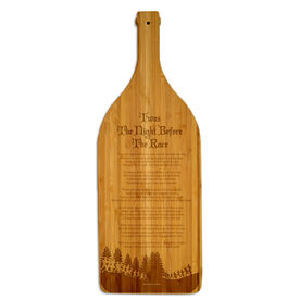 Wine Bottle Laser Engraved Bamboo Cutting Board Twas The Night Before The Race