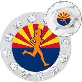 Running Shoelace Charm - Arizona Runner Girl