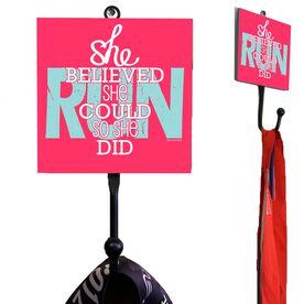 Running Medal Hook She Believed She Could
