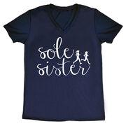 Women's Running Short Sleeve Tech Tee - Sole Sister Script