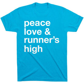 Running Short Sleeve T-Shirt - Peace Love & Runner's High