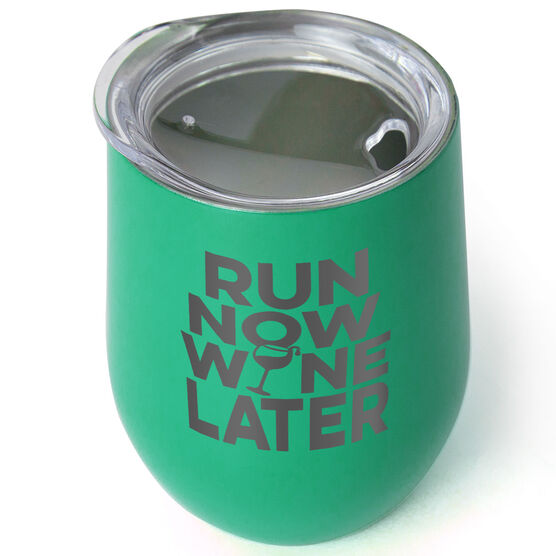 Running Stainless Steel Wine Tumbler - Run Now Wine Later