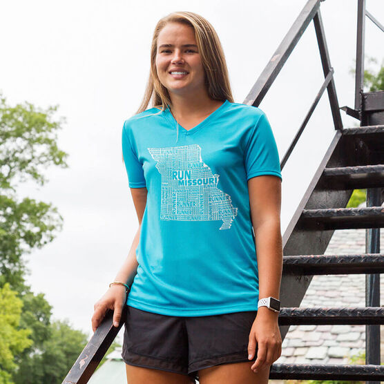 Women's Running Short Sleeve Tech Tee Missouri State Runner