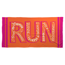 Running Beach Towel Run With Inspiration