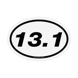 13.1 Half-Marathon White Mini Car Magnet - Fun Size