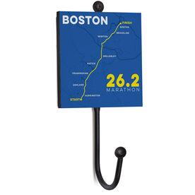 Running Medal Hook - Boston Map