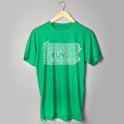 Running Short Sleeve T-Shirt - Pennsylvania State Runner