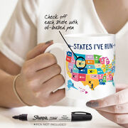 Running Coffee Mug - States I've Run