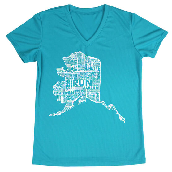Women's Running Short Sleeve Tech Tee Alaska State Runner
