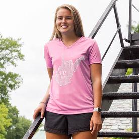 Women's Running Short Sleeve Tech Tee West Virginia State Runner