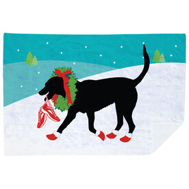 Running Premium Blanket - Rex The Running Dog With Christmas
