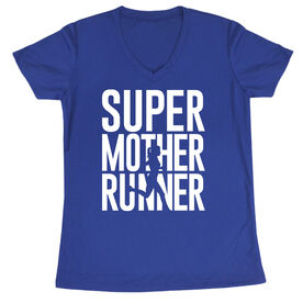 Women's Running Short Sleeve Tech Tee - Super Mother Runner