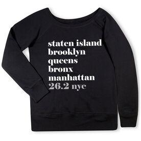 Running Fleece Wide Neck Sweatshirt - Run Mantra NYC