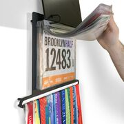 BibFOLIO+™ Race Bib and Medal Display - What Lies Behind Us Rustic