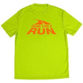 Men's Running Short Sleeve Tech Tee Gone For a Run Logo