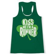 Women's Performance Tank Top - Kiss Me I'm A Runner