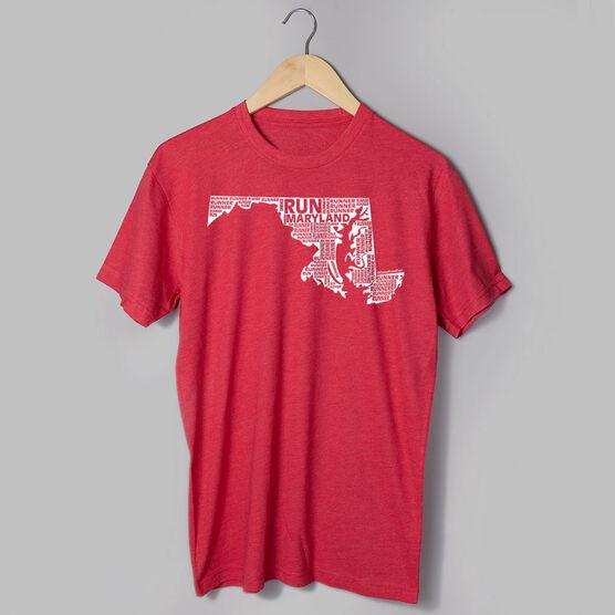 Running Short Sleeve T-Shirt - Maryland State Runner