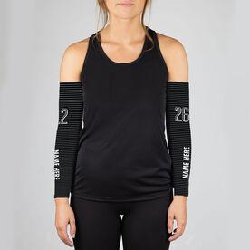 Running Printed Arm Sleeves - 26.2 Marathon (Dimensional)