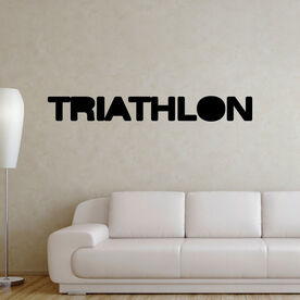 Triathlon Word Removable TRIForeverGraphix Wall Decal