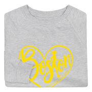 Running Raglan Crew Neck Sweatshirt - Love The Run Boston 26.2