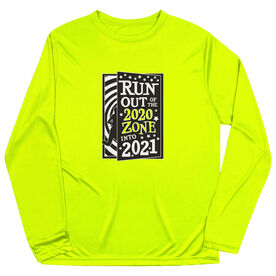 Men's Running Long Sleeve Performance Tee - Run Out Of The 2020 Zone Into 2021