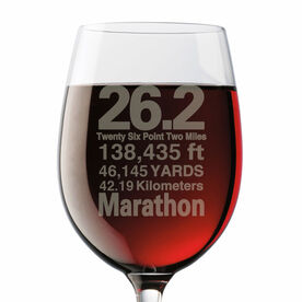 26.2 Math Miles Wine Glass