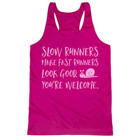 Women's Racerback Performance Tank Top - Slow Runners