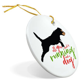 Running Porcelain Ornament All You Need Is Running And A Dog
