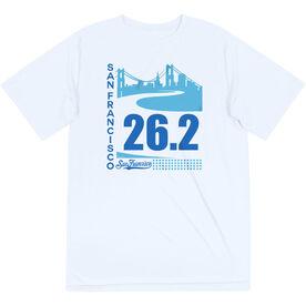 Men's Running Short Sleeve Tech Tee - San Francisco Skyline 26.2