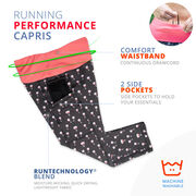 Women's Performance Capris - Wine Time