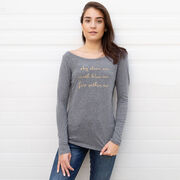 Women's Scoop Neck Long Sleeve Tee - Sky Above Me