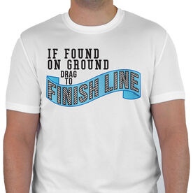 Men's Running Customized Short Sleeve Tech Tee If Found On Ground Drag To Finish Line (Banner)