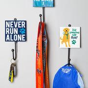 Running Medal Hook - Did Someone Say Run? (Yellow)