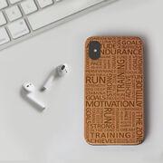 Running Engraved Wood IPhone® Case - Running Motivation