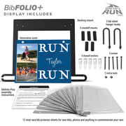 BibFOLIO+™ Race Bib and Medal Display Run Your Name Run With Your Photos