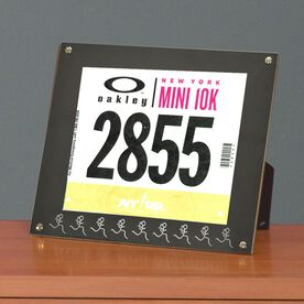 BibDISPLAY - Runners Race Bib Frame - Run Girl Stick Figure
