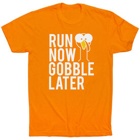 Running Short Sleeve T-Shirt - Run Now Gobble Later (Bold)