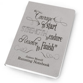 Running Notebook Vintage Courage To Start