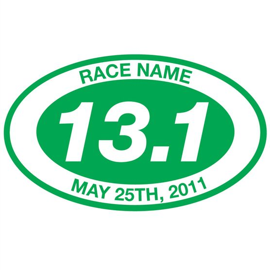 Personalized 13.1 Oval Running Vinyl Decal