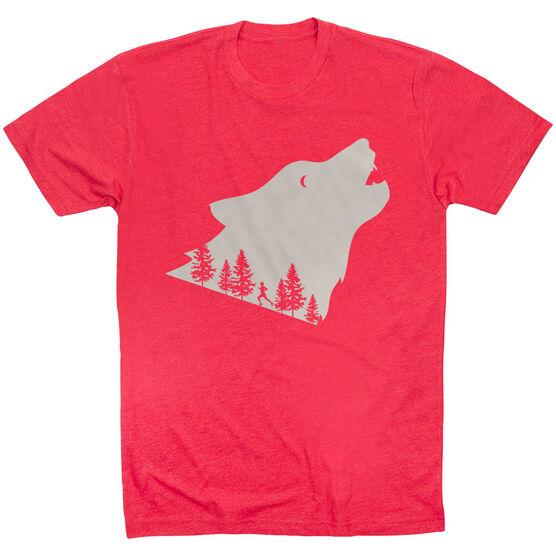 Running Short Sleeve T-Shirt - Run Wild Wolf
