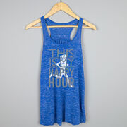 Flowy Racerback Tank Top - This Is My Happy Hour