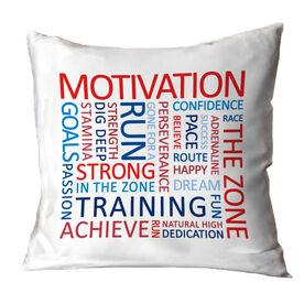Running Throw Pillow - Motivation