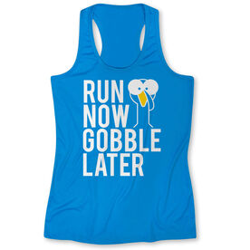 Women's Performance Tank Top - Run Now Gobble Later (Bold)