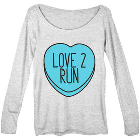 Women's Runner Scoop Neck Long Sleeve Love 2 Run Candy